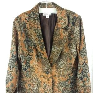 Coldwater Creek Blazer Fall Splatter Look Size 12